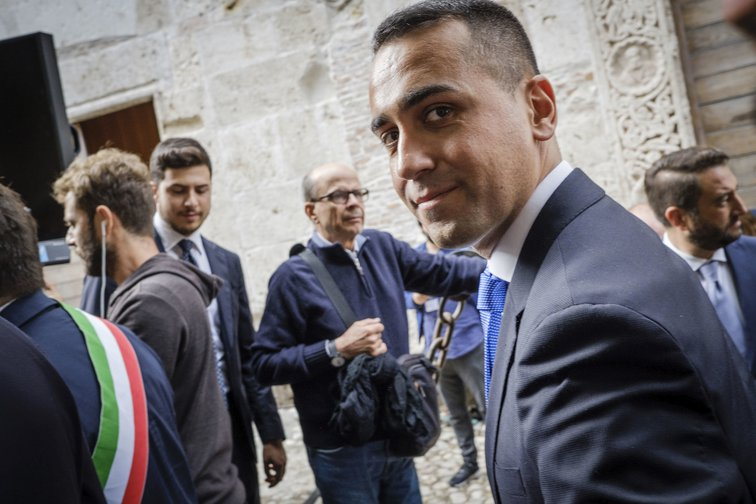 Luigi di Maio (M5S) attends a meeting demonstrating the unity of the coalition government, October 25, 2019, Narni, Italy.