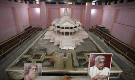 A model of a proposed Ram Hindu temple in Ayodhya on November 14, 2019.