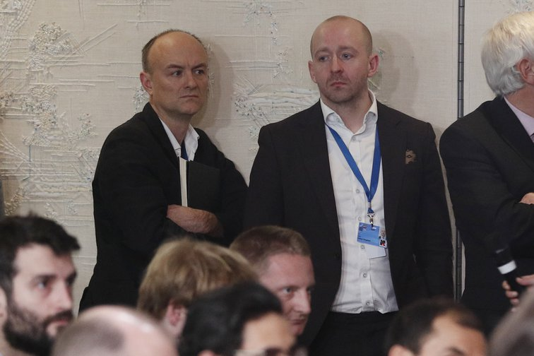 Dominic Cummings and Lee Cain, special advisors to the Prime Minister, pictured December 2019