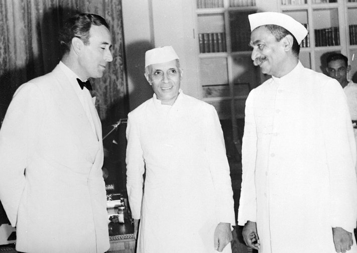 Pandit Nehru after the historic handing over of India, August,1947.