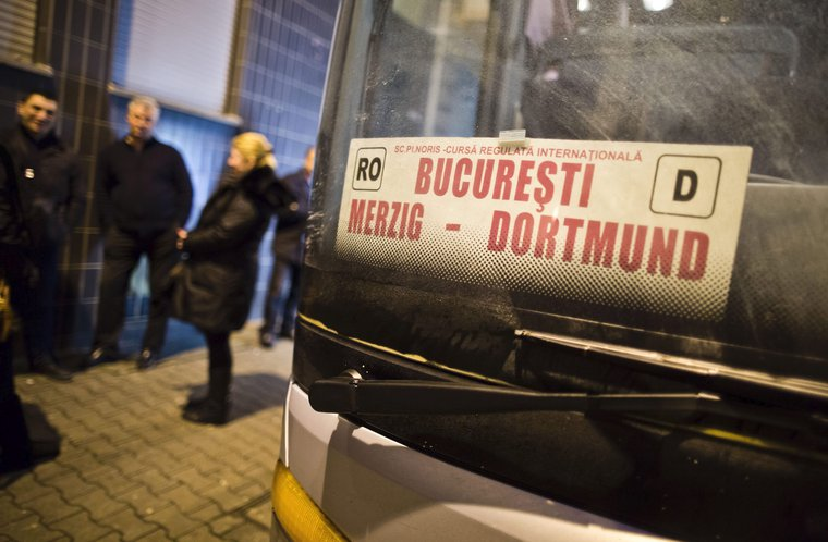 Regular busline between Bucharest-Dortmund-Bucharest.