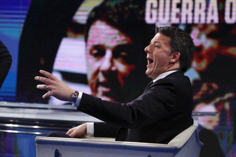 Matteo Renzi, Porta a Porta tv broadcast guest. Rome, February 19, 2020.