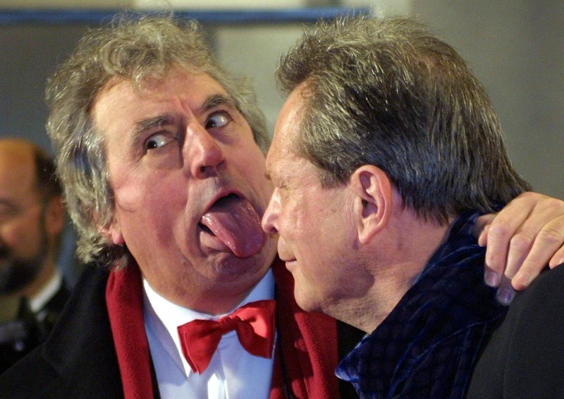 Monty Python's Terry Jones (left) and Terry Gilliam, 2001