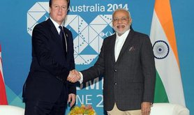 Narendra Modi and David Cameron, November, 2014.
