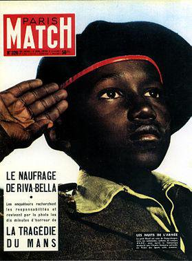 Child soldier on the cover of Paris Match