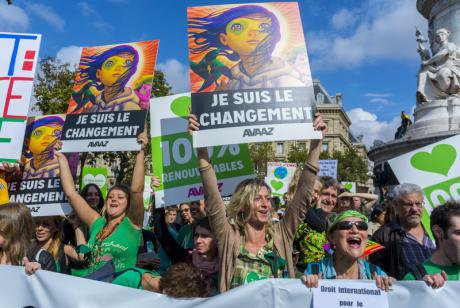 Paris climate march. Demotix/Tom Craig