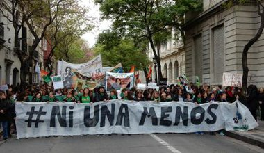 "Ni Una Menos (or ""Not one [woman] less"") demonstrations in Argentina against machismo and femicides."