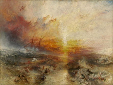 "Slavers throwing overboard the Dead and Dying - Typhoon coming on (""The Slave Ship"") by J. M. W. Turner 1840 (Wikimedia Commons)"
