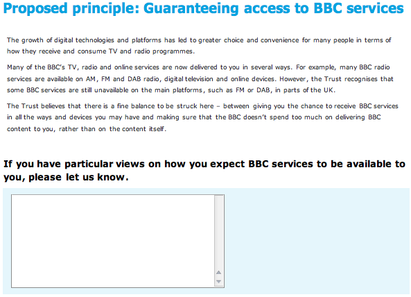 Making consultation work: the BBC Strategy Review survey