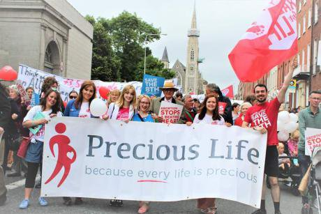 Precious Life at the 'Rally for Life' in Dublin.