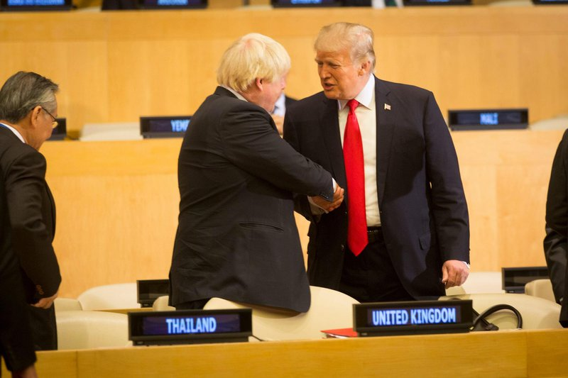 President Donald J. Trump and Boris Johnson at UN General Assembly, 2017.