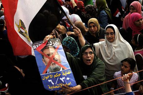 Protestors in Cairo denounce President Morsi and the Muslim Brotherhood, July 2013. Credit - AFP PHOTO, GIANLUIGI GUERCIA.jpg
