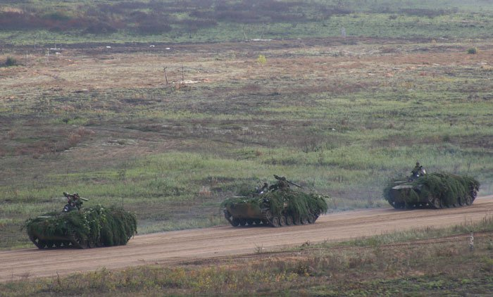 Military exercises. Pskov paratroopers.