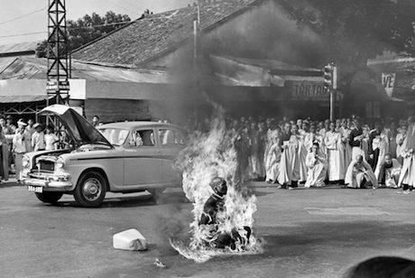 Quang Duc burns himself to death in protest against South Vietnamese government. AP Photo:Malcolm Brown:Flickr. Some rights reserved:jpg.jpg