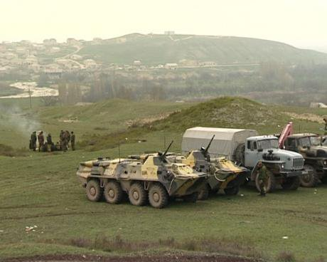 Russian security forces stage a special operation against Vagabov's militants in Gubden region, Dagestan, 2010