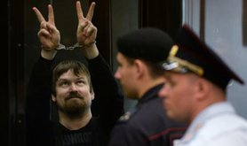 Leonid Razvozzhayev, defiant in court on July 24.
