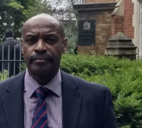 Rod Charles at St Pancras Coroner's Court, 4 June, 2018 (Family)