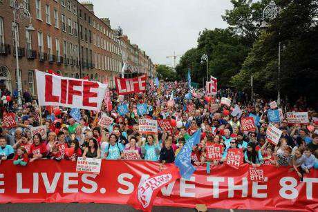 This year's Rally for Life march in Dublin.