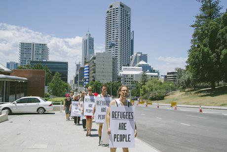 RefugeesArePeople Perth walk. Louise Coghill:Flickr. Some Rights Reserved.jpg