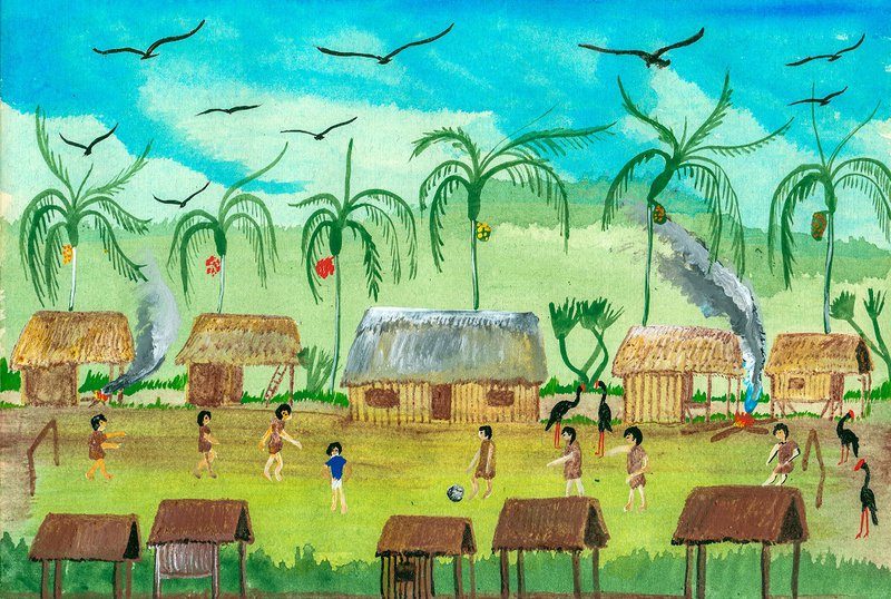 Representation of Alto Tamaya Saweto, a Peruvian community located on the border with Brazil