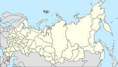Dagestan in Russia, map