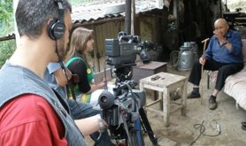 Filming in Nagorny Karabakh during the production of Dialogue Through Film