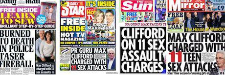 Max Clifford sensationalist tabloid reporting