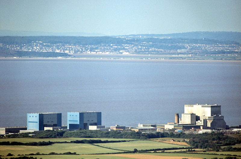 Hinkley Point nuclear power stations, by Richard Baker.