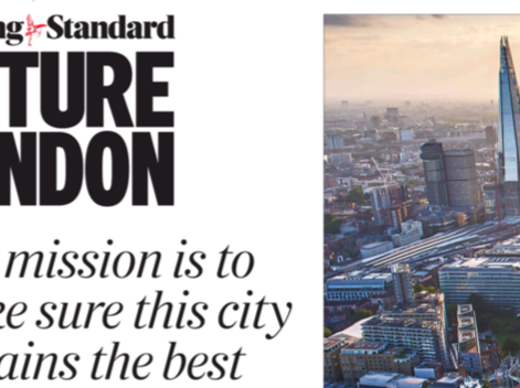 The Evening Standard announcement of its Future London campaign, June 10.
