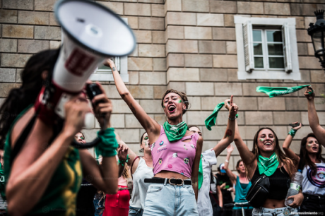 Protest for legal abortion in Argentina, August 2018.