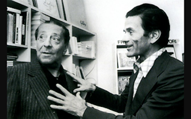 Sandro Penna and Pier Paolo Pasolini.