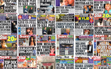 anti-Muslim tabloid headlines