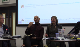 Panelists at Activism Behind the Screen, at Goldsmiths, University of London, 2017