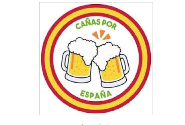 "Figure 1: logo of the movement ""Cañas por España"""