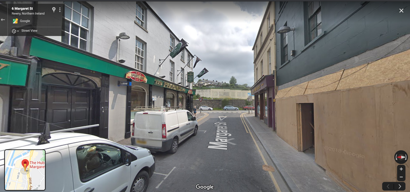 Google Street View of Margaret Street, Newry