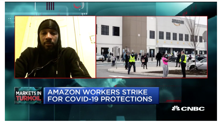 Screenshot: Chris Smalls fired by Amazon today, March 31, 2020.