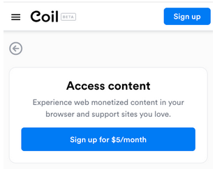 Coil signup box