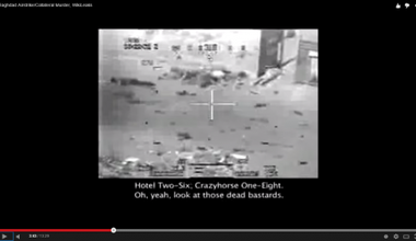 Footage of US airstrike in Baghdad, 12/7/2008, killing at least 12 civilians, 2 of whom were journalists. Wikileaks.