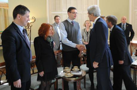 John Kerry meets representatives of Russia's civil society in 2013. via US Gov.