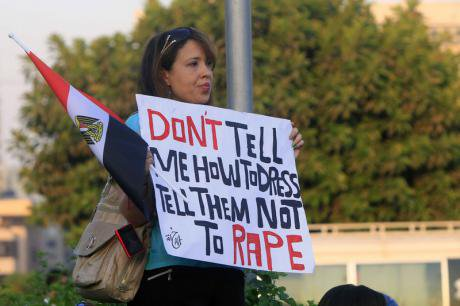 An Egyptian woman protests against sexual harassment in Cairo. (June 2014) Mohamed Elmaymony/Demotix All rights reserved.