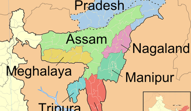 India's northeast (from wikipedia)