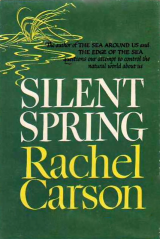 Houghton Mifflin's first edition cover of Silent Spring by Rachel Carson.