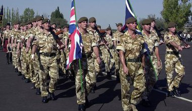Soldiers of the British Army (United Kingdom) march for a .jpeg