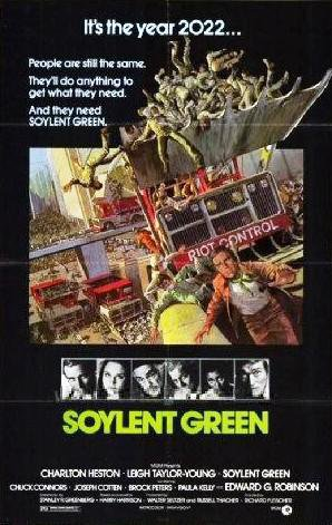Film poster for Soylent Green.