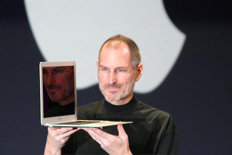 Steve Jobs with his MacBook Air at Macworld 2008. Wikimedia Commons/Matthew Yohe. Some rights reserved.