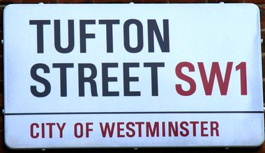 Street sign 'Tufton Street SW1'