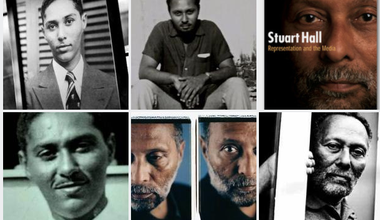 Mosaic of Stuart Hall photographs