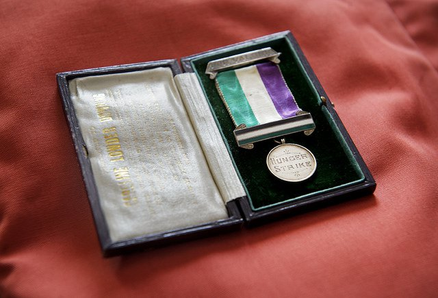Suffragette hunger strike medal. Photo UK Parliament - Jessica Taylor.jpg