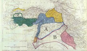 A map of the original Sykes-Picot Agreement. Flickr/prince_volin. Some rights reserved.