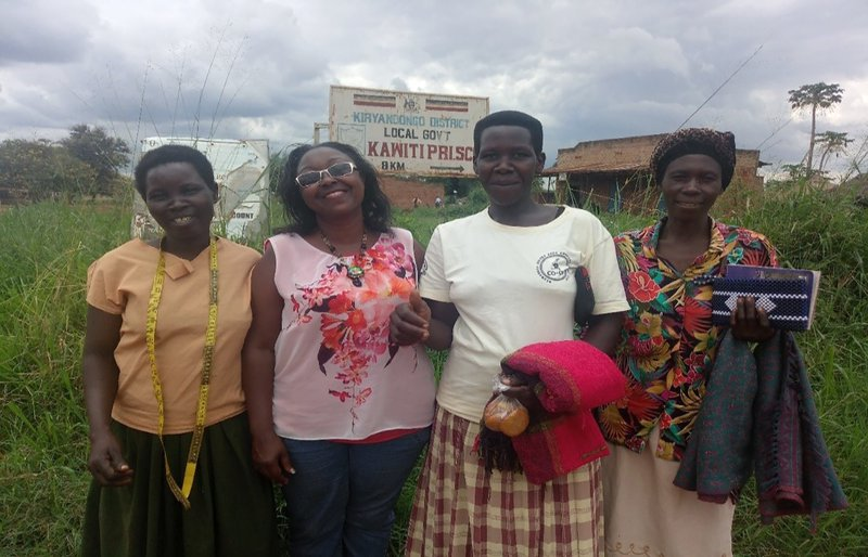 Sylvia Gavigan with women in the chia business, Uganda